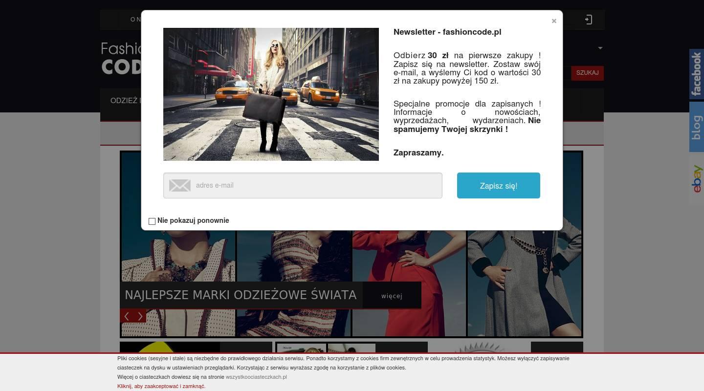 6e3a2a299c3c3 Fashioncode.pl Outlet. Komis odzieżowy. Second Hand. polski sklep  internetowy