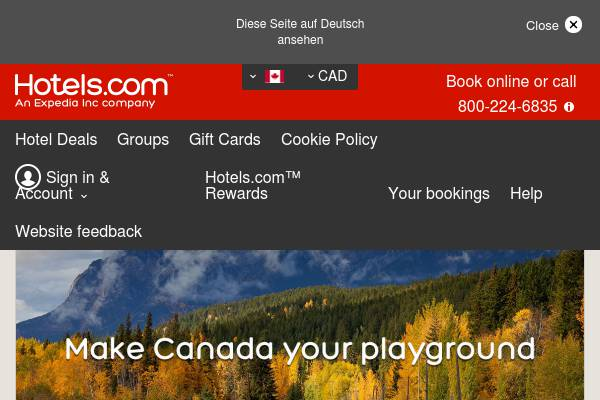 Hotels.com Canada: Discover Canada and save up to 30% on it's best road trip destinations!